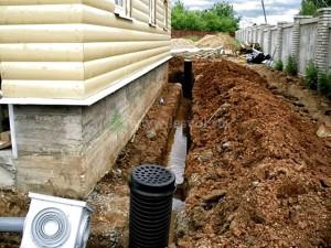 Отвод грунтовых вод, притекающих к дороге со стороны