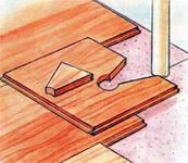 Полы из деревянных дощечек