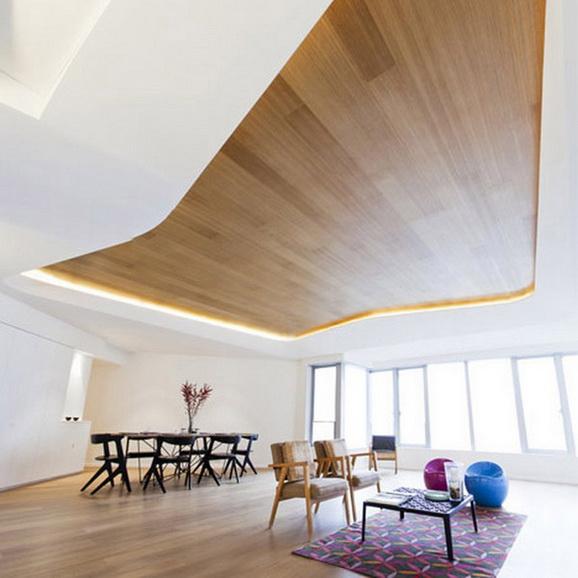 Потолок – воплощение смелых фантазий и идей