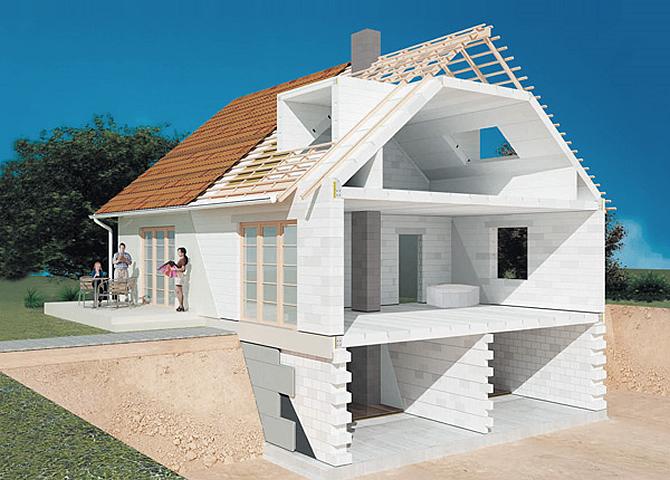 Преимущества строительства домов из пеноблоков