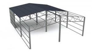 Рамно-подкосные фермы с подкосами в крайних панелях