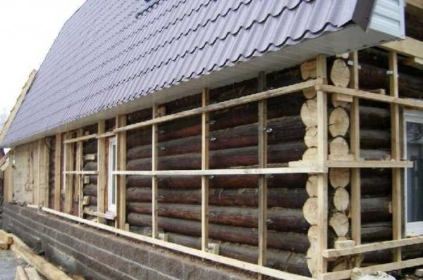 Ремонт фасада деревянного дома