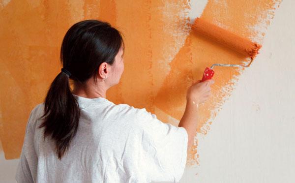 Самостоятельная покраска стен