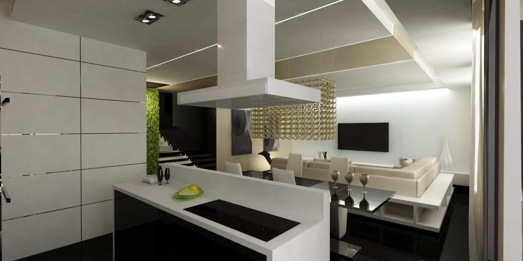 Совмещение кухни и гостиной – модно и стильно