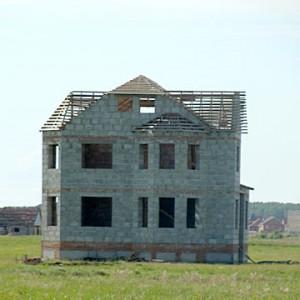 Все строительство надземной части дома