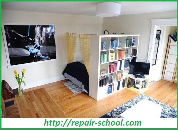 Возведение перегородок с помощью мебели