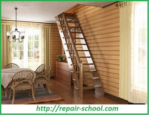 Деревянная лестница второго этажа своими руками