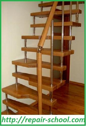 Конструкция лестницы «утиный шаг»