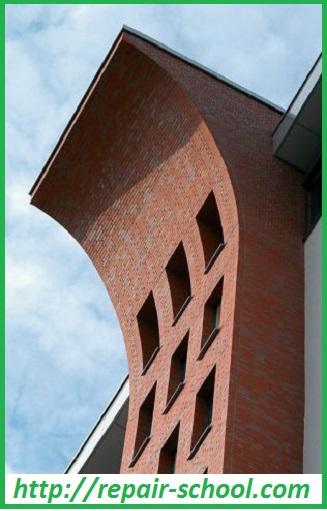 Один из архитектурныз замыслов повлияйшый на способ кладки кирпича