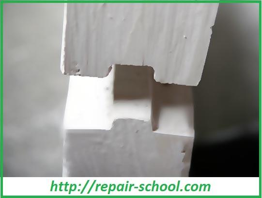 Перегородка из гипсовых блоков