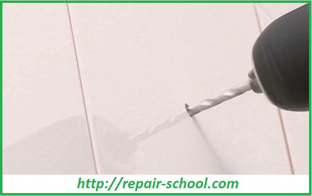 Сверление отверстий в керамической плитке