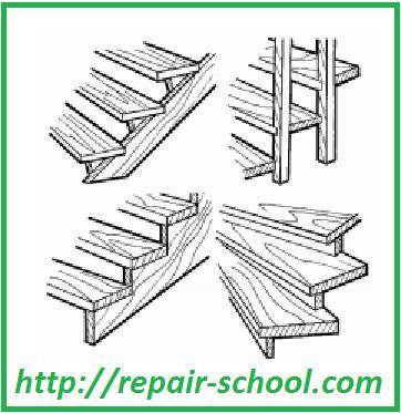 Способы крепления ступеней на лестнице