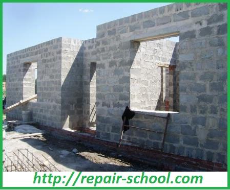 Стены из шлакоблоков