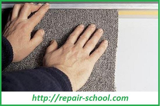 укладка коврового покрытия на стену