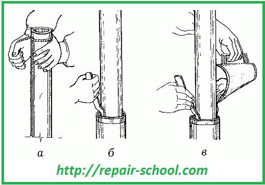 Заделка стыков труб