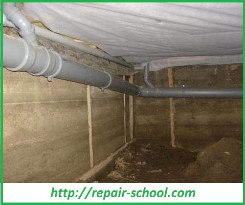 Прокладка канализационной сети в подвале