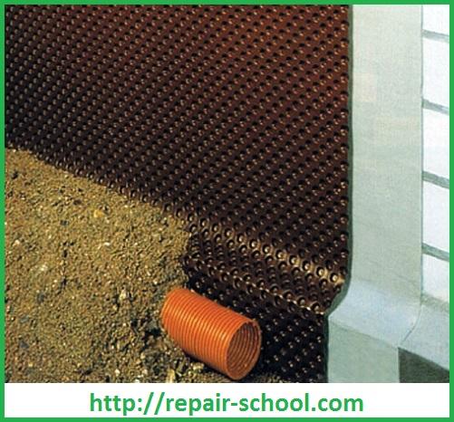 Гидроизоляция стен подвала рулонными материалами