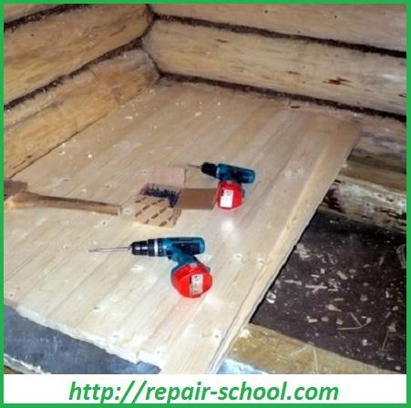Настил полов в бане Школа ремонта