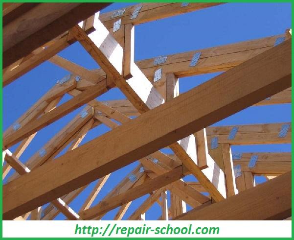 Опора для крыши бани