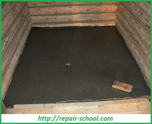 Устройство отвода воды в бане
