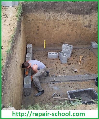Устройство стен погреба