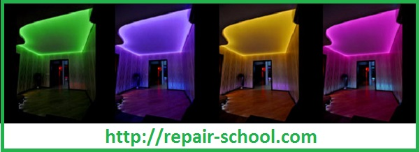 Выбор цветовой гаммы потолка