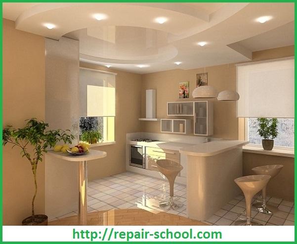 Дизайн гипсокартонных потолков в различных комнатах квартирыДизайн квартиры