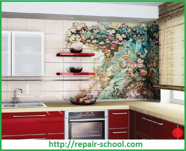 Керамическая плитка для отделки стен на кухне