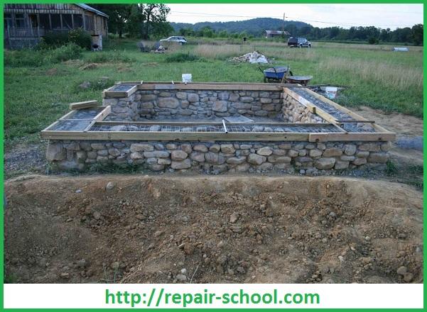 Кладка стен гаражаСтроительство загородного дома