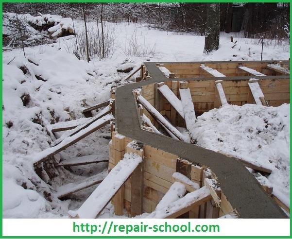 Устройство фундамента в зимнее время