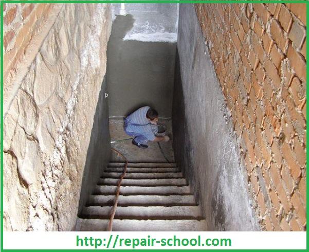 Штукатурка кирпичных стен подвалов и погребов