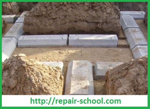 фундамент для гаража из бетонных блоков фбс