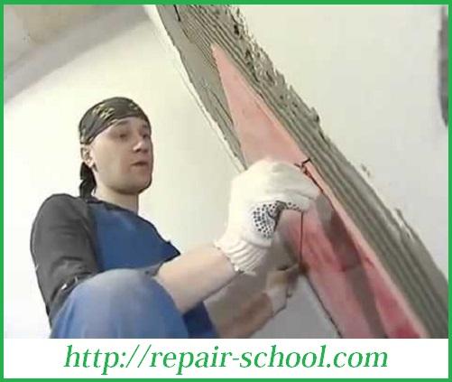 Укладка кафеля на стену