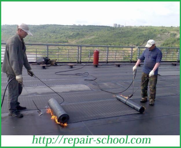 Оклеечная гидроизоляция крыши