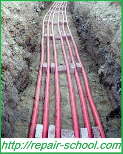 Прокладка кабеля в земле