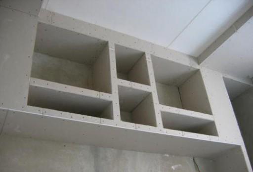 Шкафы из гипсокартона отличаются огромным разнообразием форм и вариантов