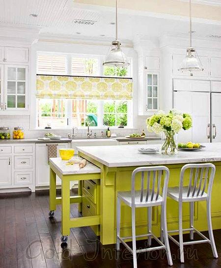 Палитра для кухни: пастельные тона + яркие акценты