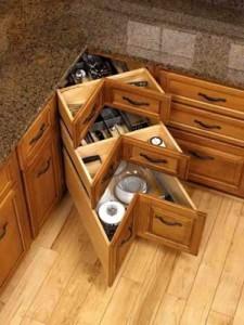 Нестандартный способ дизайна угловой кухни