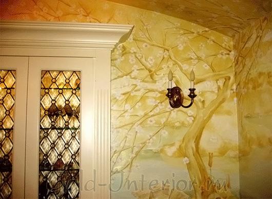 Фреска на стене и потолке